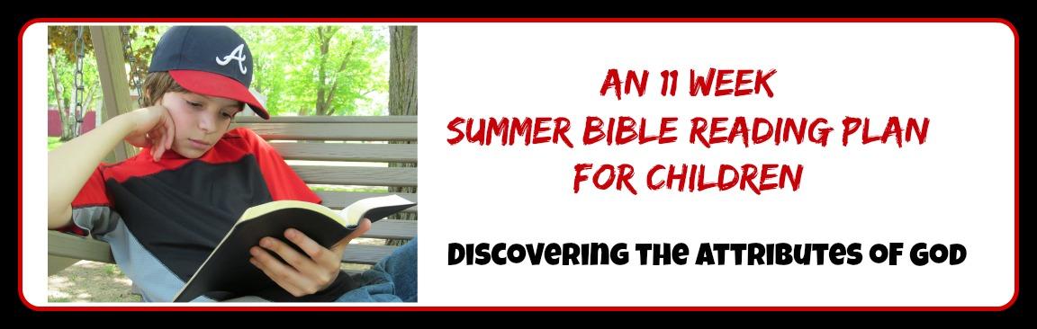 Summer Bible Reading Plan forChildren