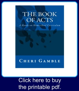 The Book of Acts curriculum