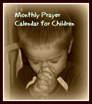 graphic regarding Printable Monthly Prayer Calendar referred to as Prayer Calendars Cheri Gamble