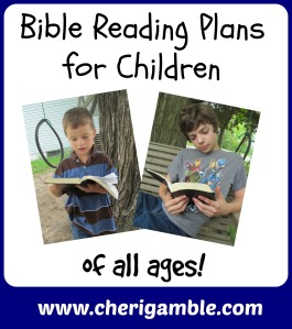Bible Reading Plans for Children of all ages