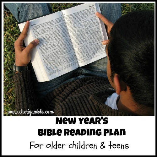 New Years Bible Reading Plan for older children and teens