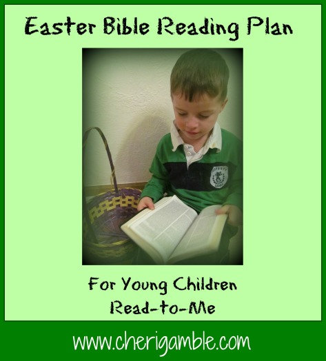 Easter Bible Reading Plan for Young Children