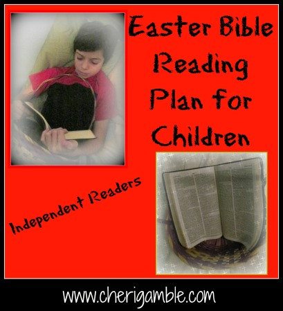 Easter Bible Reading Plan for Children