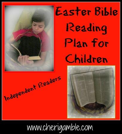 Easter Bible Reading Plan for Children
