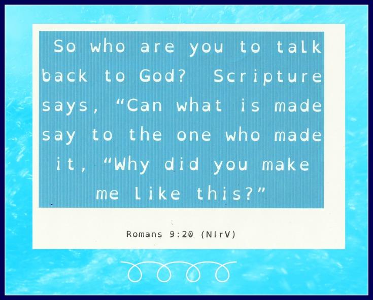 Romans 9:20