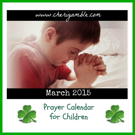 March 2015 Prayer Calendar for Children