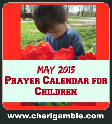 May 2015 prayer calendar for children