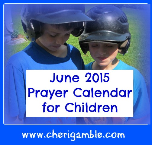 June 2015 Prayer Calendar for Children