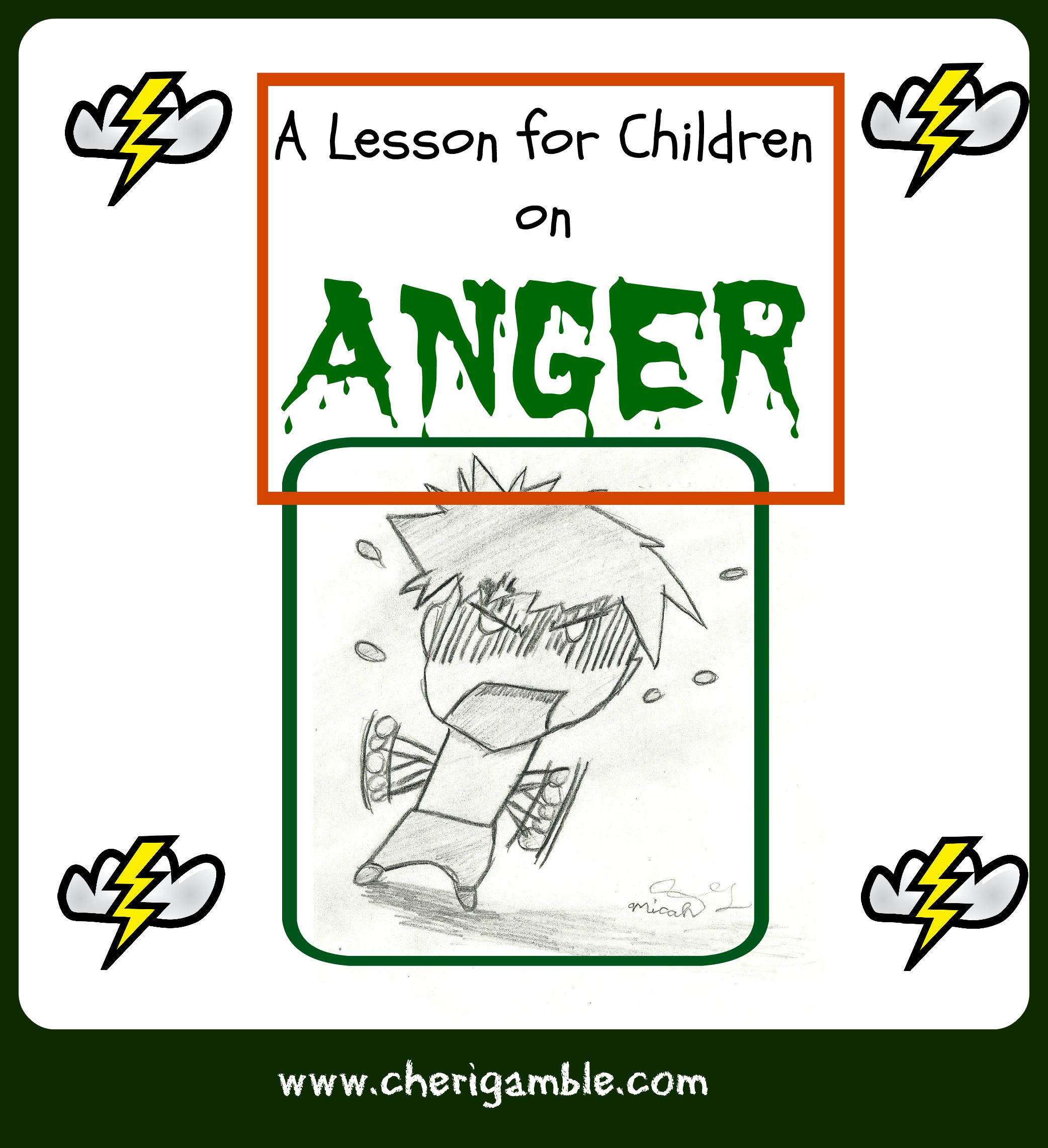 picture relating to Free Printable Children's Church Curriculum titled A Lesson for Small children upon ANGER (versus James 1:19-21) Cheri