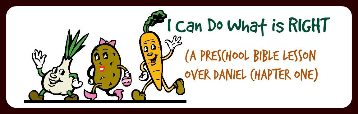 i can do what is right a preschool bible lesson over