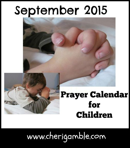 September 2015 Prayer Calendar for Children