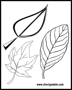thankful leaf template