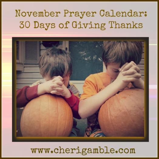 November Prayer Calendar