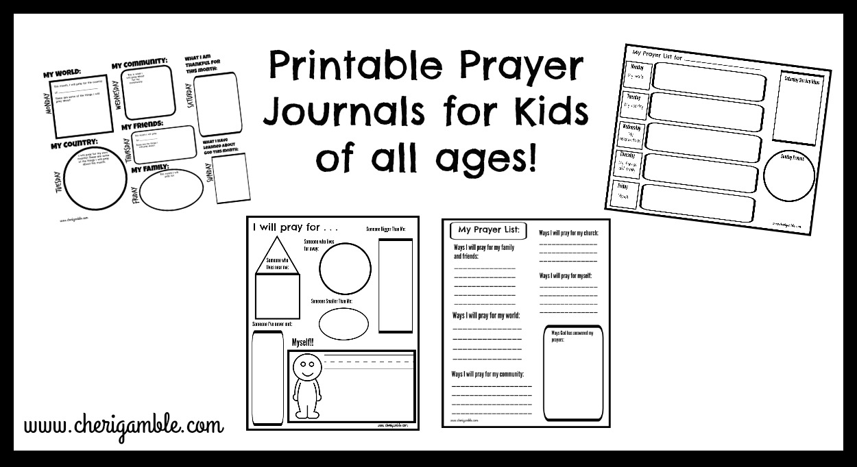 photo regarding Printable Journaling Pages named Printable Prayer Publications for Young children Cheri Gamble