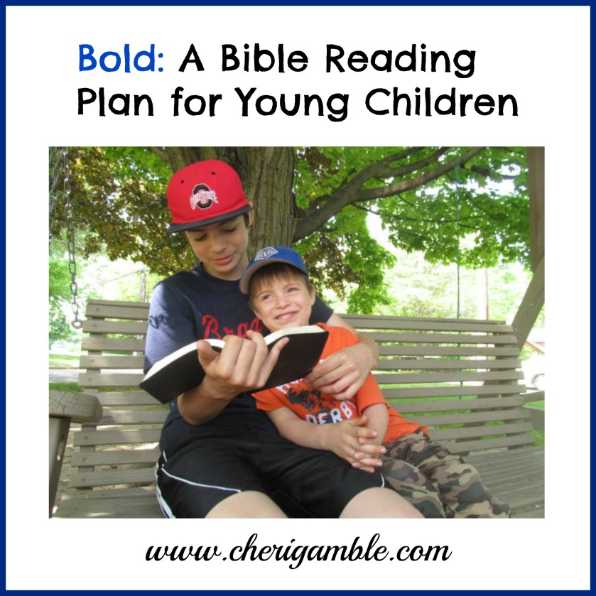Bold A Reading Plan for Young Children