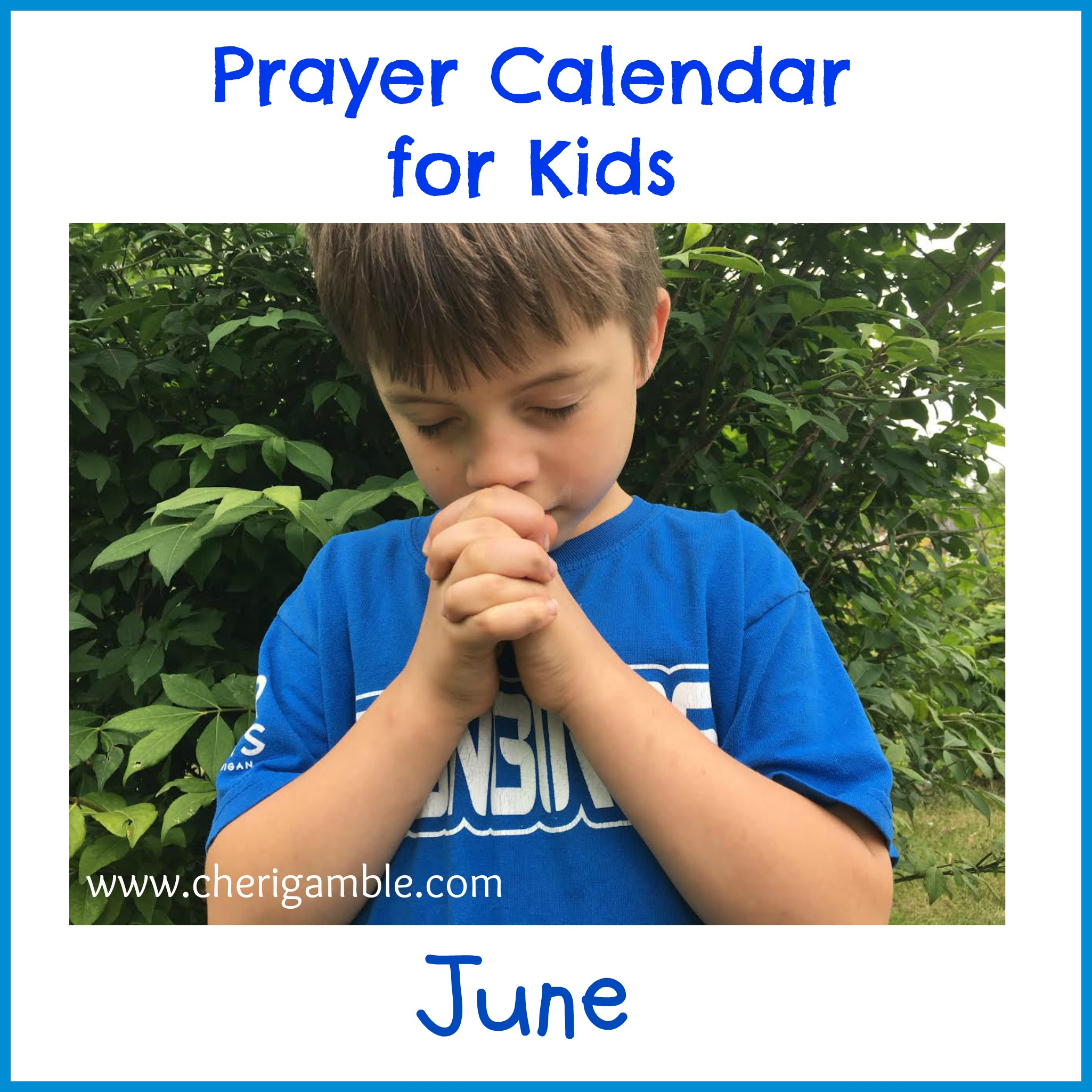 prayer calendar june