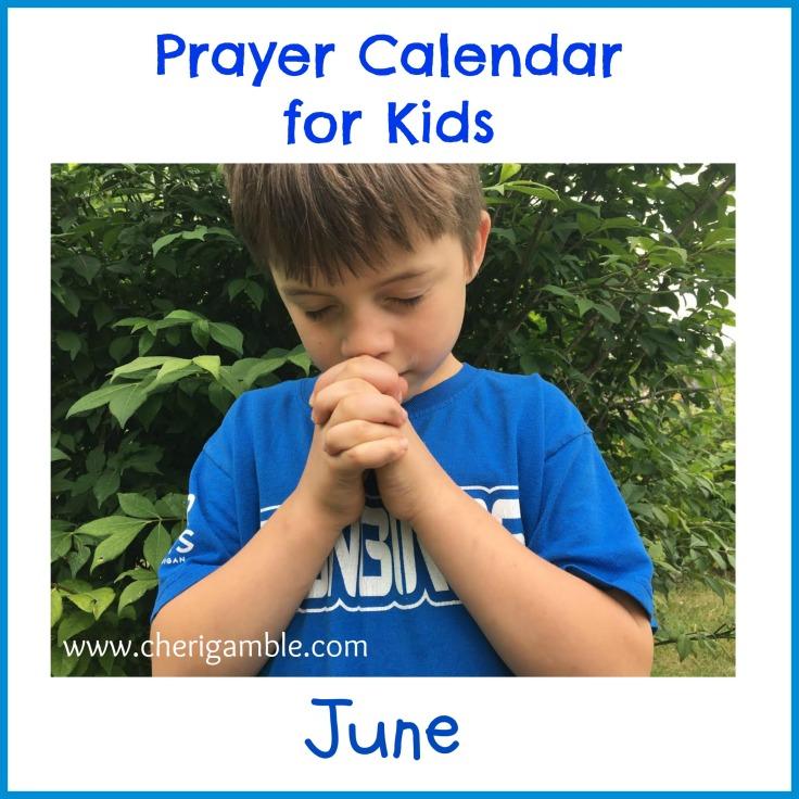 prayer calendar june