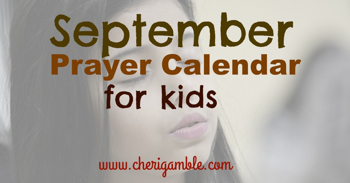 September Prayer Calendar