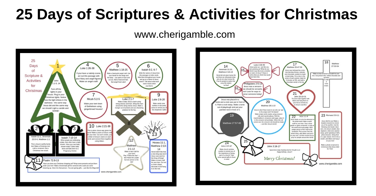 25 Days of Scriptures & Activities forChristmas